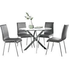 5 dining room sets modern plastic acrylic dining room sets allmodern