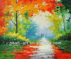 bright color oil painting of autumn trees buy bright color oil