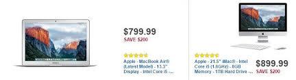 amazon black friday 2016 apple deals the best black friday deals on apple macbook laptops mac desktops