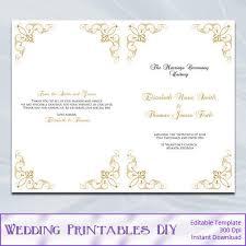 Wedding Program Templates Word The 25 Best Program Template Ideas On Pinterest Wedding Program