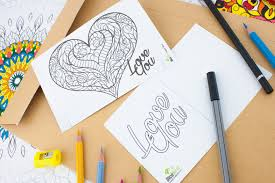 heart slice postcard free coloring pages to print free