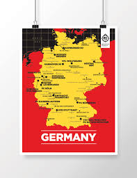 germany map u2014 football club maps