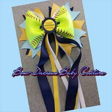 personalized bows softball hair bow personalized with tails bow