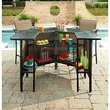 Garden Bar Table And Stools Garden Oasis Harrison 5 Piece Bar Set Limited Availability