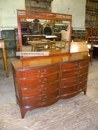 Bedroom Sets With Mirrors Antique Double Bow Front Dixie Bedroom Furniture Mahogany Dresser