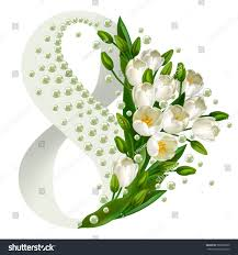 Mother S Day Flower 8 March Happy Mothers Day Floral Stock Vector 589002290 Shutterstock