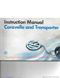volkswagen caravelle 1992 t4 4 g owners manual