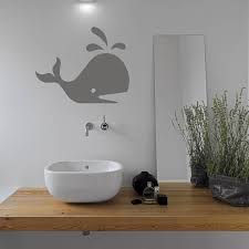 prints for bathroom walls whale bathroom vinyl wall sticker