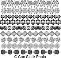 vectors illustration of ornamental golden trim collection