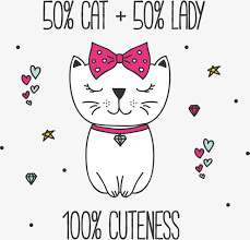 cartoon cat cartoon kitty bow png vector free download