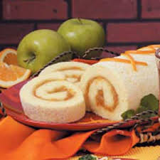 orange sponge cake roll recipe taste of home