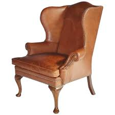 Leather Wing Back Chairs Ralph Lauren Leather Wingback Chair For Sale At 1stdibs