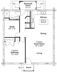 2 Story Log Cabin Floor Plans Simple One Bedroom House Plans Home Plans Homepw00769 960