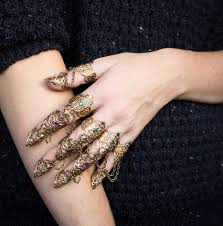 hand with rings images Gold or silver finger claws full hand claw rings hand etsy jpg