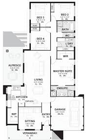 Beautiful 4 Bedroom House Plans 50 Unique Gallery Of 4 Bedroom House Plans House And Floor Plan