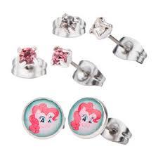 my pony earrings my pony pinkie pie stud earrings three set