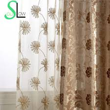Brown Floral Curtains Online Get Cheap Brown Floral Curtains Aliexpress Com Alibaba Group