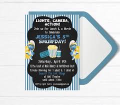 smurf birthday invitations free 100 images birthday invites