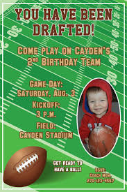 2nd Birthday Invitation Card Best 25 Football Invitations Ideas On Pinterest Football Party