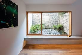 window into lower ground courtyard very nice way to do a light