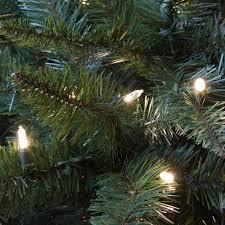 sterling 7 ft pre lit warm white led fairmont pine artificial