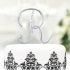 rhinestone monogram cake topper silver rhinestones monogram cake topper wedding cake toppers
