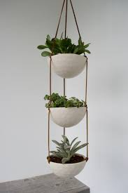 3 Tier Hanging Succulent Planter Geometric Faceted Or Smooth