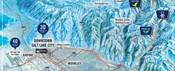 Ski Utah Map by Getting There The Cottonwoods Ski Utah