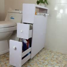 Narrow Bathroom Floor Cabinet by Homcom Narrow Wood Floor Bathroom Storage Cabinet Holder Organizer