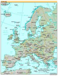 free high resolution map of europe