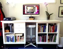 stand up l with shelves cheap stand up desk work setup a combined sitting and standing desk
