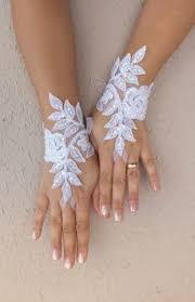 gant mariage gratuit ship gant de mariée ivoire argent brodé dentelle gants