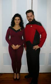star trek halloween mask a bit of halloween fun commander riker and deanna troi itoysoldiers
