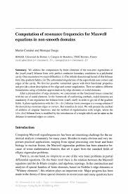 computation of resonance frequencies for maxwell equations in non