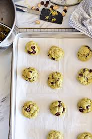 pistachio cookies with dark chocolate and sea salt tidymom