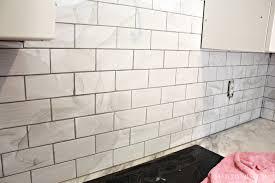 Easy To Clean Kitchen Backsplash by White Subway Tile Kitchen Backsplash Pictures U2014 Smith Design