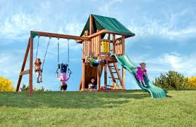 Home Depot Playset Installation The Redwood Circus Swing Set By Kid U0027s Creations