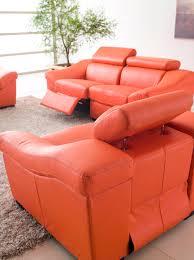 Wohnzimmer Orange Echte Echtem Leder Wohnzimmer Sitzgruppe Möbel Wohnzimmer Sofa