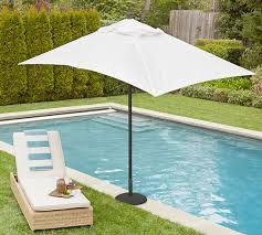 Rectangle Patio Umbrella Premium Sunbrella Rectangular Umbrella Solid Pottery Barn