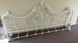 White Metal Kingsize Bed Frame White Metal Headboard Shiny Nickel Metal Headboard White Metal