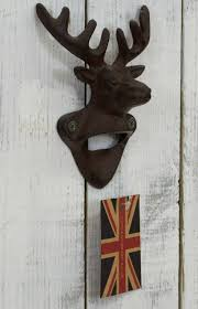 stag head designs rustic vintage cast iron stag head design wall mounted beer bottle