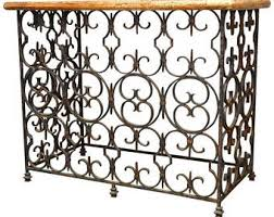 Quatrefoil Console Table Wrought Iron Table Etsy