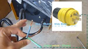 wiring color green yellow zen diagram power cord plug xueming