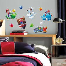 Super Mario Bedroom Decor Removable Super Mario Galaxy 2 Wall Decals Super Mario Galaxy 2