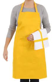 tablier de cuisine uni ustensile de cuisine tdtext set tablier torchon jaune set tablier