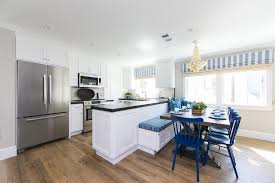 Kitchen Peninsula With Seating by Bench On Back Of Kitchen Peninsula Design Ideas