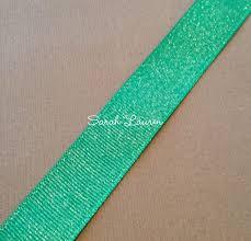 silver glitter ribbon 583 parrot green silver glitter ribbon grosgrain ribbon