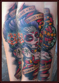 pin up day of the dead tattoo eric kuiken the best pin up tattoos