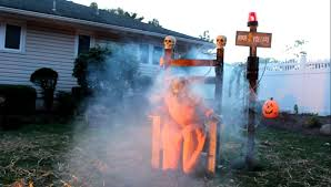 halloween yard decorations electric chair