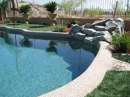 surround your pool and waterfall with our synthetic grass